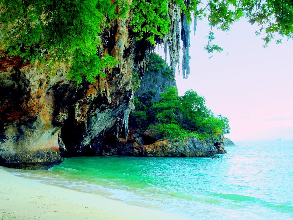 phra nang cave beach krabi thailand