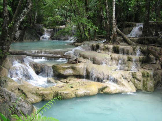 erawan waterfall from bangkok