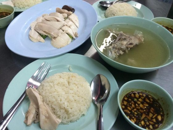 Kaiton Pratunam chicken rice stall