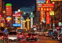 Yaowarat Road at night-best bustling place in Chinatown - Bangkok
