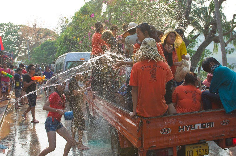 The water festival in Bunpimay-Laos-the water festivals in Southeast Asian