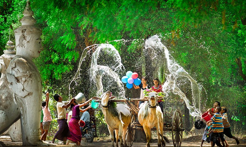 The water festival in Thingyan-Myanmar-the water festivals in Southeast Asian