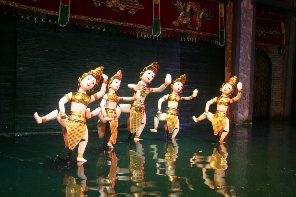 water puppet show in Vietnam