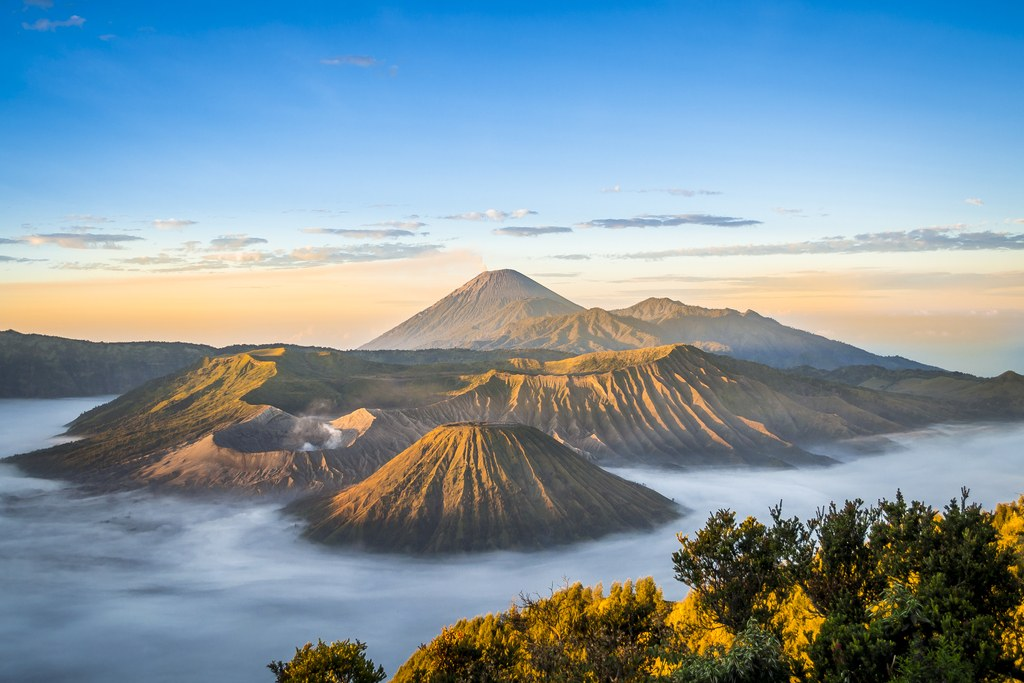 Java island, volcanoes in Java Island