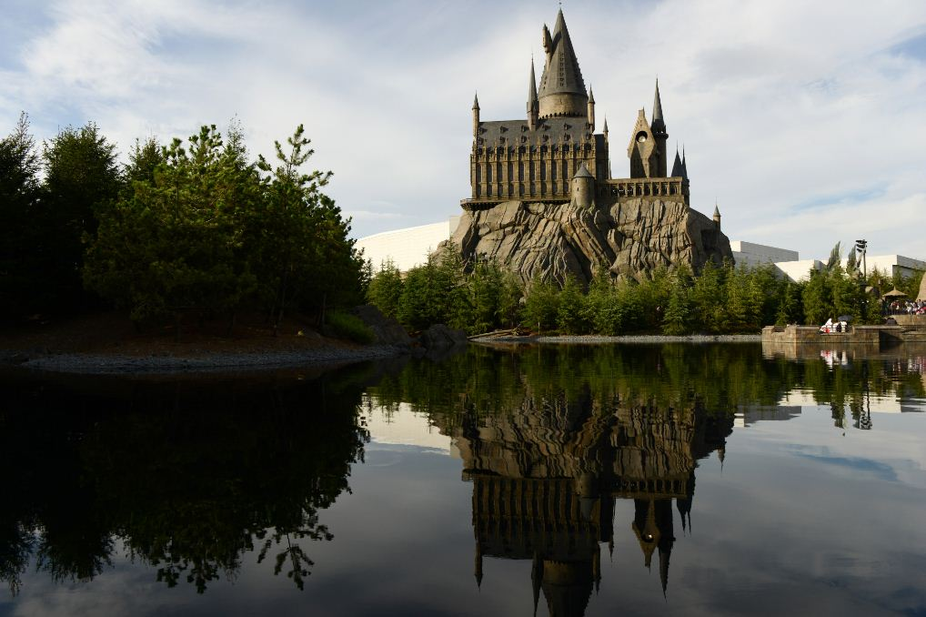 The 'Wizarding World of Harry Potter' attraction is seen at Universal Studios Japan