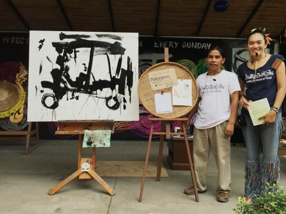Tawee Kasa Ngam hua and his wife hin art village baan sillapin artists village hua hin artist village