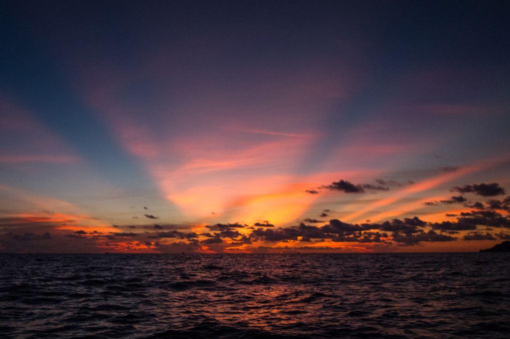 southwest beach koh rong island cambodia sunrise