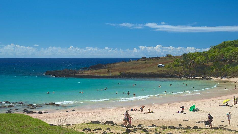 Anakena beach, Rapa Nui Island