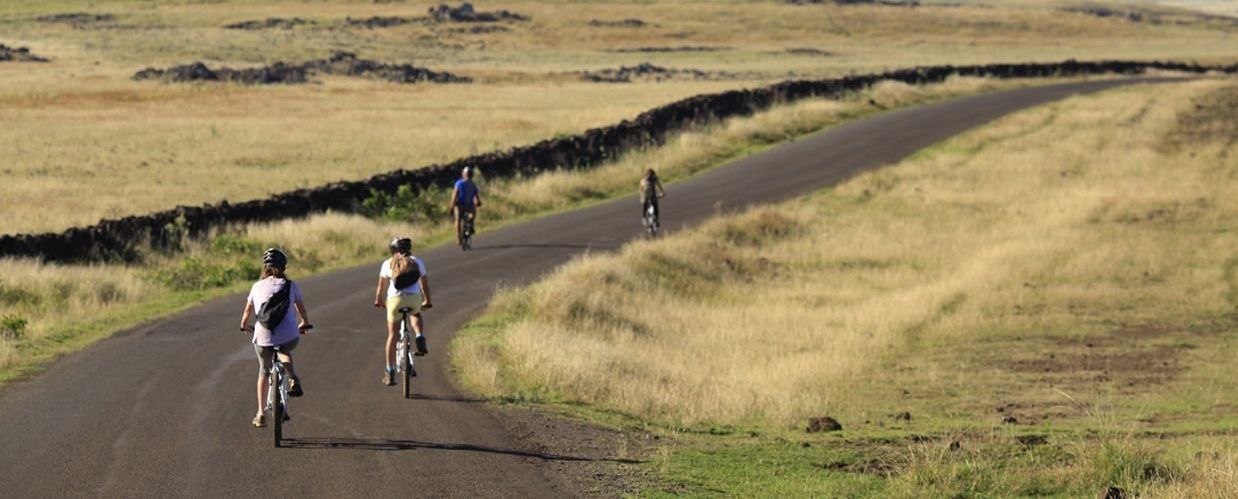 You can rent a bike in Hanga Roa, Rapa Nui Island