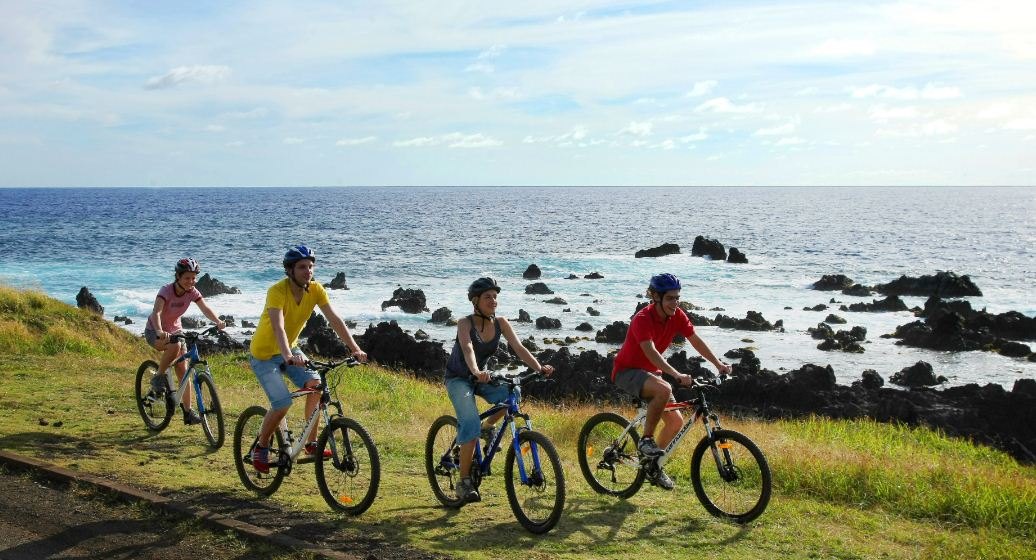 cycling around easter island