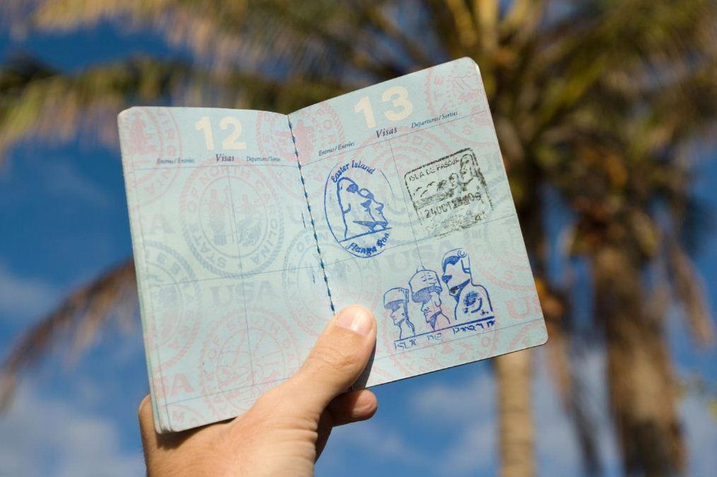rapa nui island passport stamp