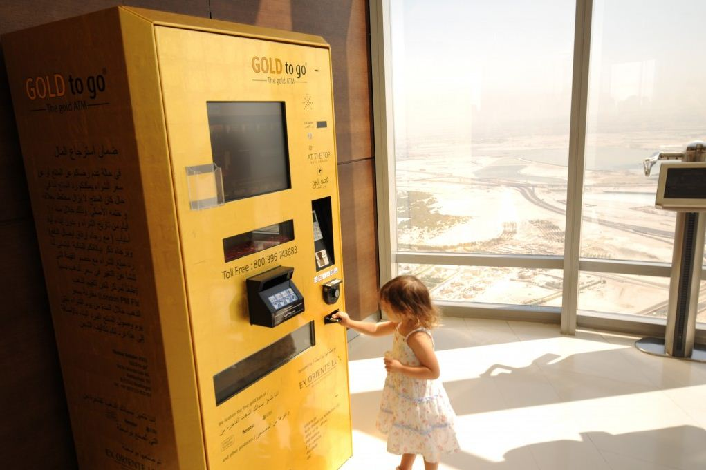 Burji Khalifa ATM Gold. dubai travel blog