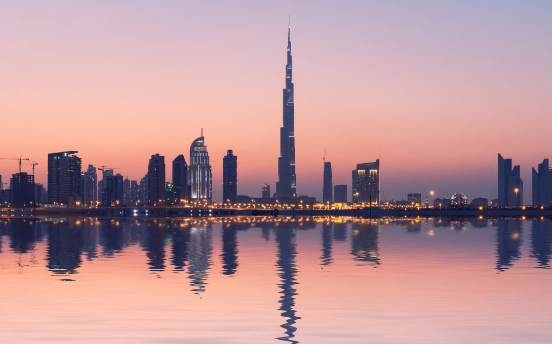 Burji Khalifa tower at dawn. dubai travel blog