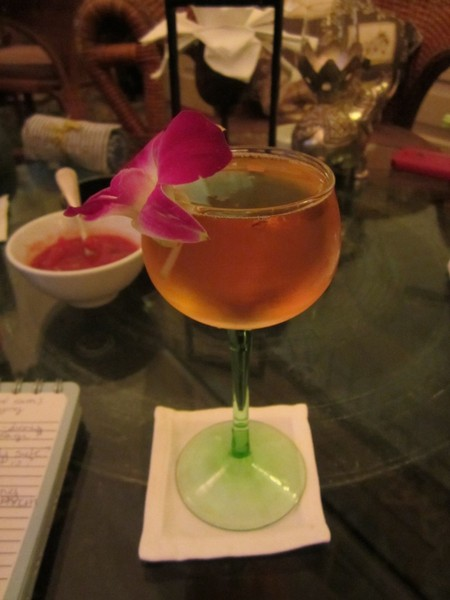 Femme Fatale cocktail - at Elephant Bar at Raffles Hotel Le Royal in Phnom Penh Cambodia