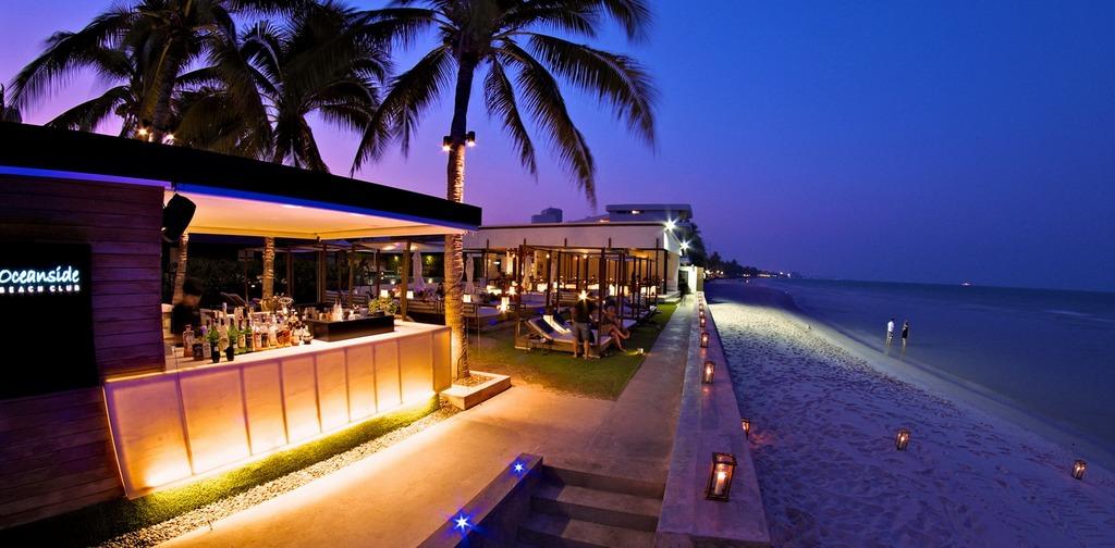 . Image of Hua Hin nightlife blog. Oceanside Beach Bar – Hilton Hua Hin Resort-thailand-best place to visit in thailand