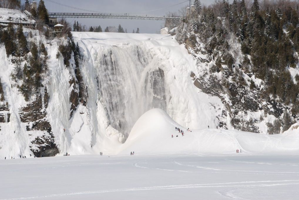 Montmorency Falls outside Quebec City