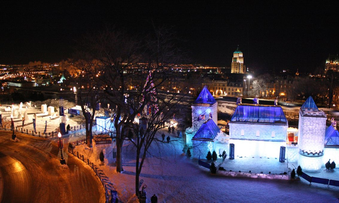 ice palace at night quebec winter carnival 2017 schedule dates canada