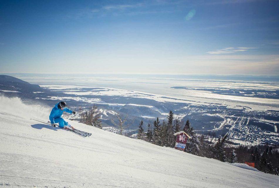 skiing Mont Sainte Anne, Quebec 2