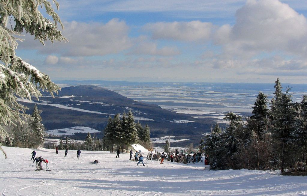 skiing Mont Sainte Anne, Quebec 2