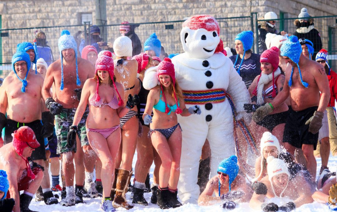 snow bathing quebec winter carnival 2017 schedule dates canada 2