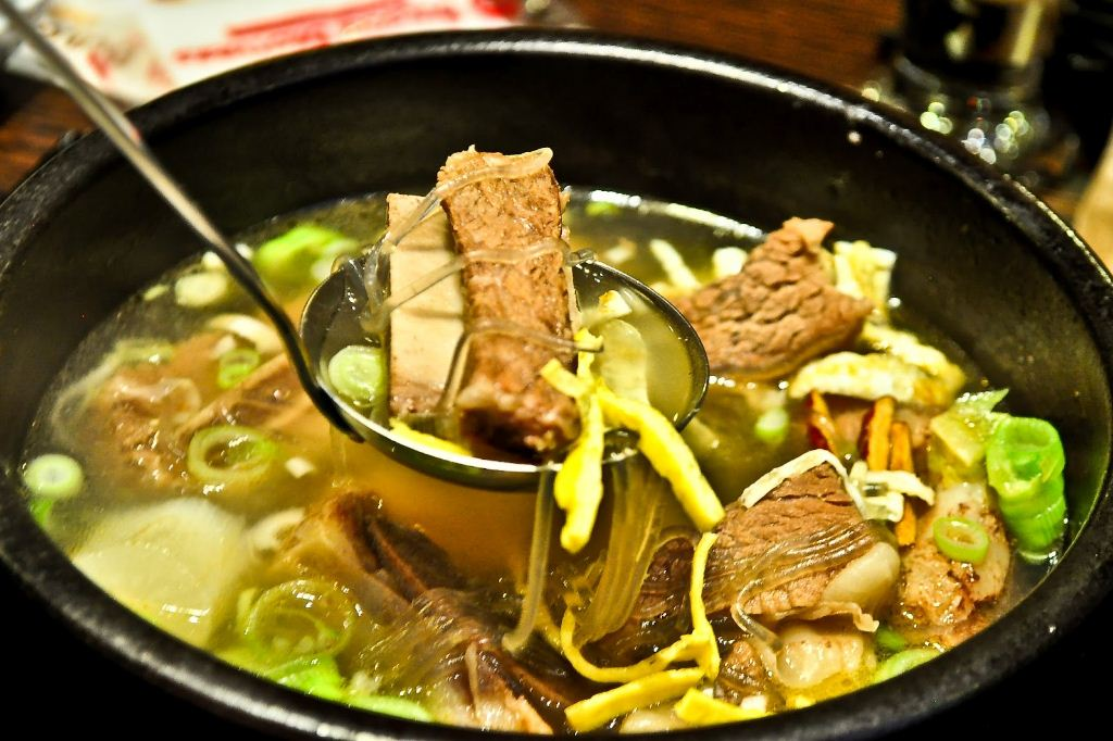 Galbitang soup, typical type of Korean soups