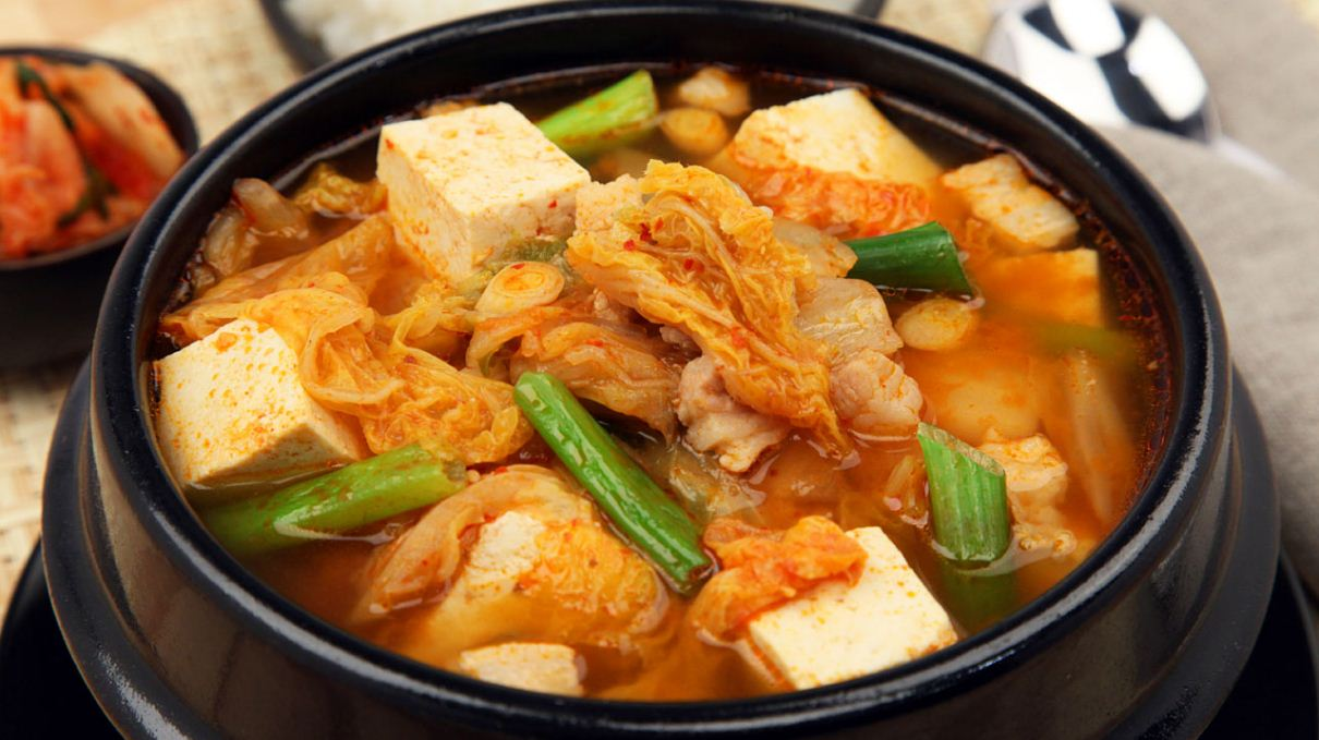Kimchi soup, typical type of Korean soups