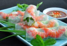 prawn rice paper rolls vietnamese cuisine