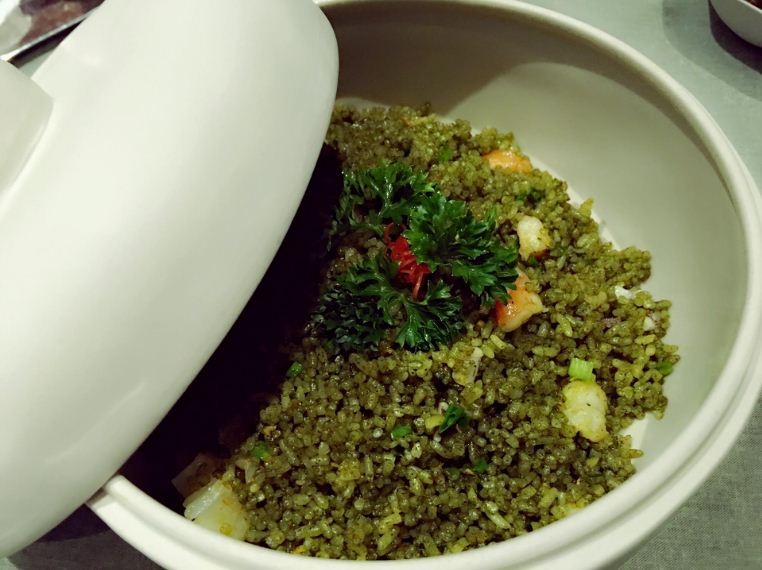 Rice fired with Ocimum basilicum L. var. pilosum