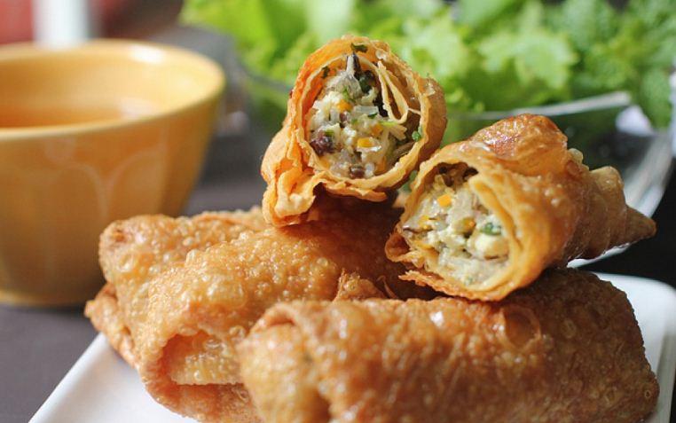 Crunchy spring roll vietnamese fried spring rolls