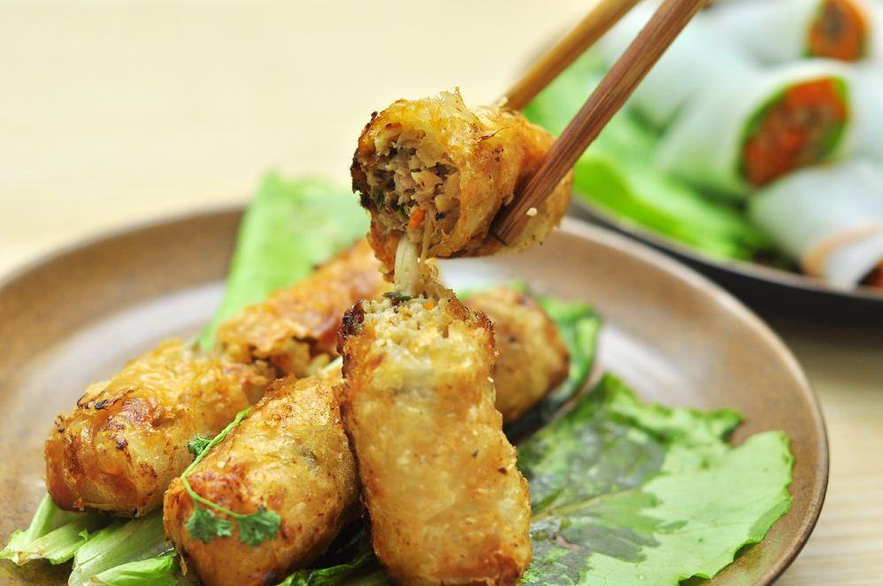mushroom spring roll vietnamese fried spring rolls 2