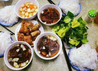 Bun cha Hanoi (Bún chả Hanoi). One of the best traditional dishes you must-eat in Hanoi