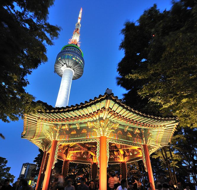 n seoul tower south korea 2