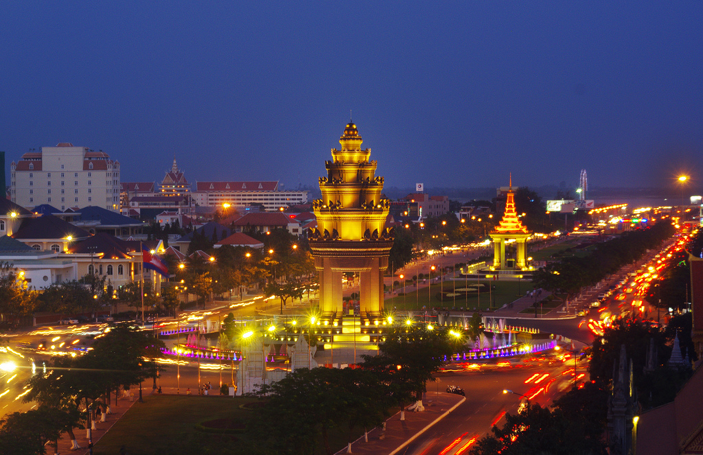 The charming beauty of Siem Reap at night.
