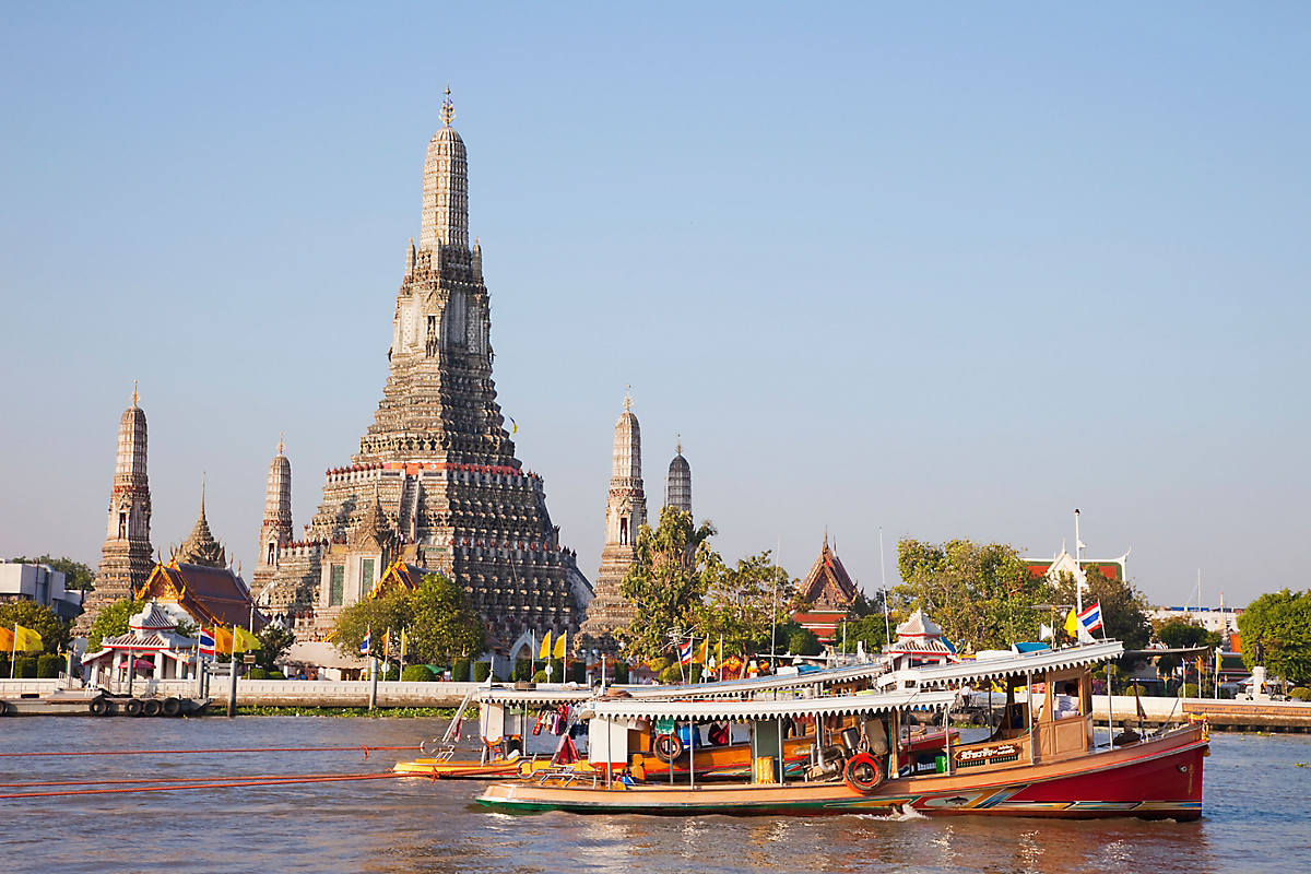 Boating in Chao Phraya River ,Bangkok