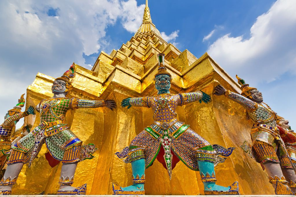 Wat Phra Kaew in Grand Palace. One of the top places to visit in Bangkok, Thailand