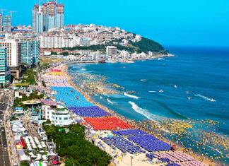 Beautiful beach in Korea
