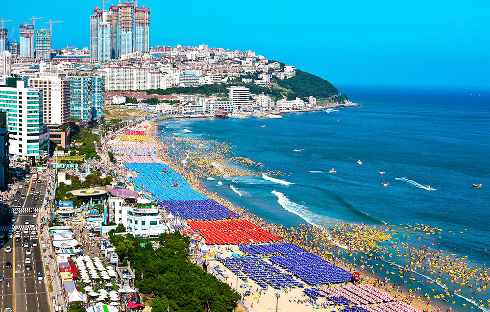 Beautiful beach in Korea