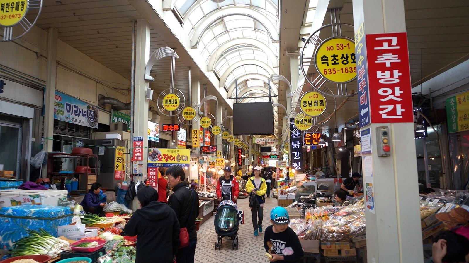 Seafood market in sokcho
