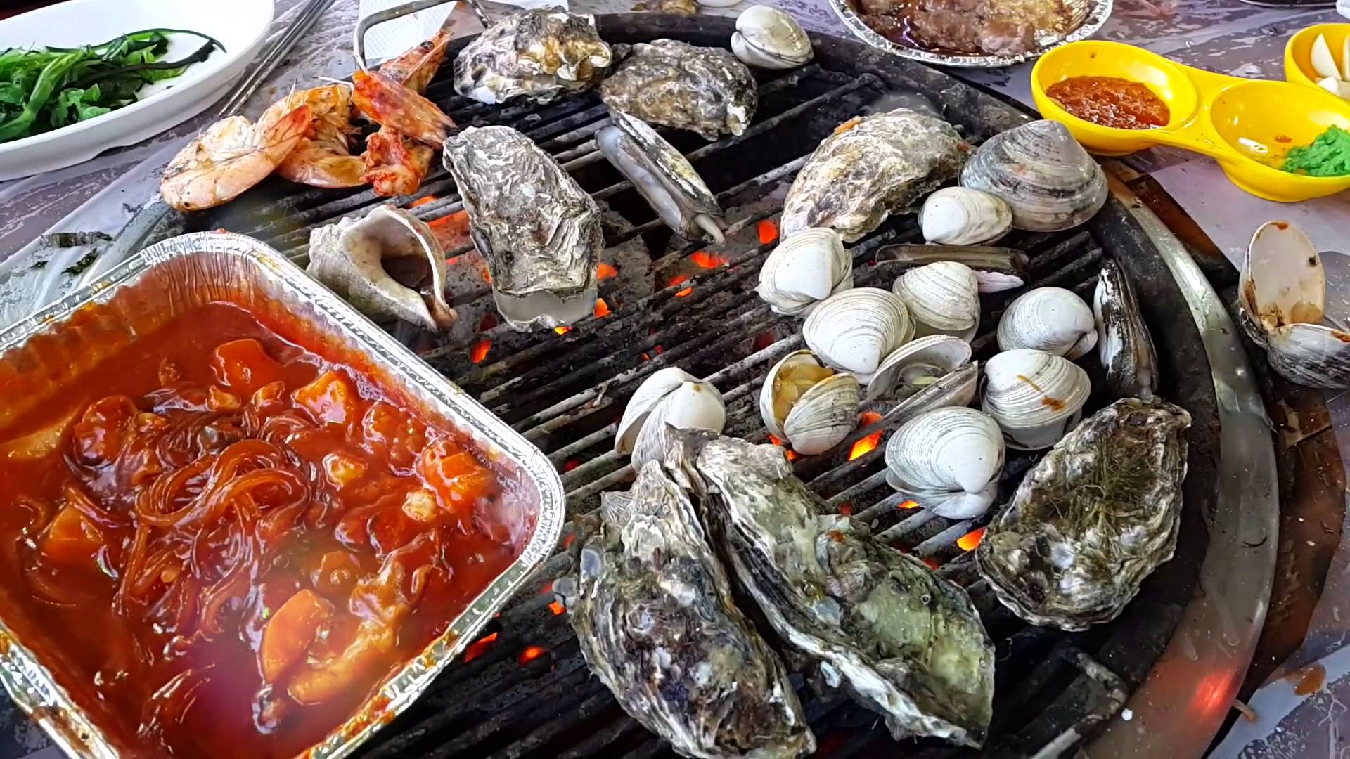 Seafood in Guryongpo beach, korea