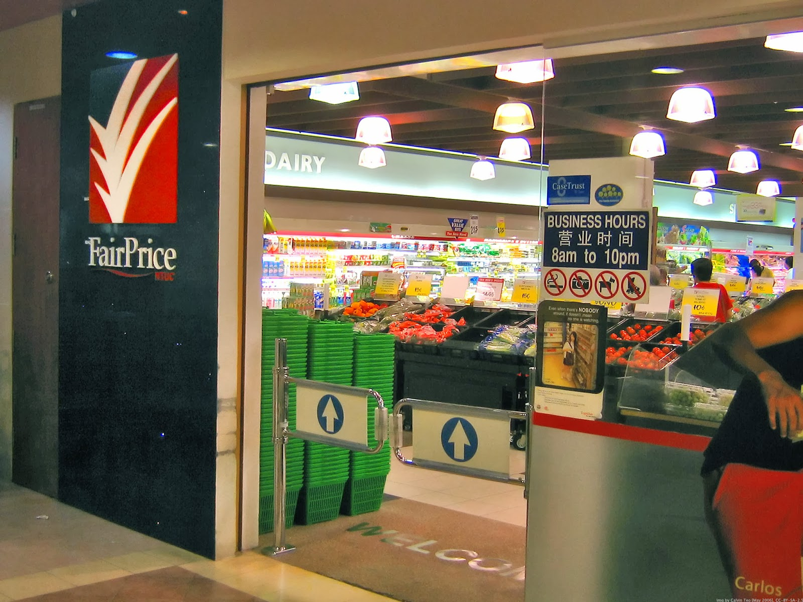 Image of Singapore tourist sim card blog. FairPrice-supermarket-best-places-to-buy-local-sim-card-singapore