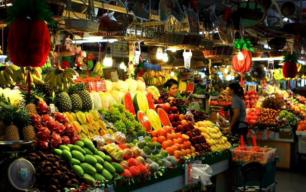 Fruits and vegetable in phi phi