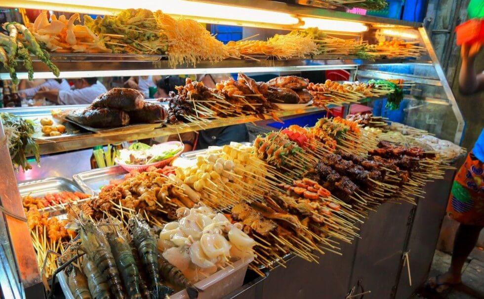Food in Chinatown, Yangon1