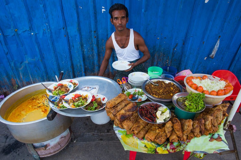 Mohinga fish shrimp, Yangon