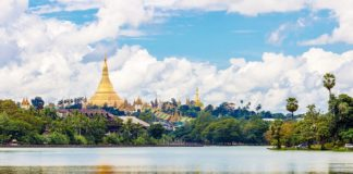 Yangon which is like a glittering jewel in the center of Myanmar, one of the best places for you to visit in Myanmar. Image of top things to do in Yangon travel blog.
