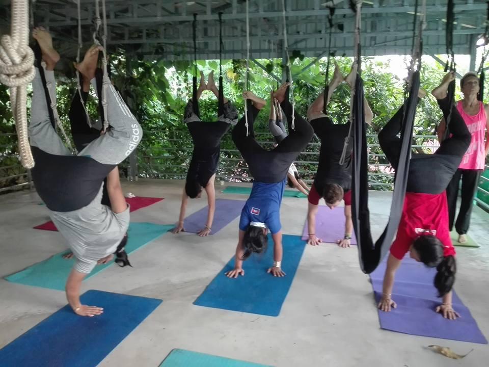 Yoga class in kampot