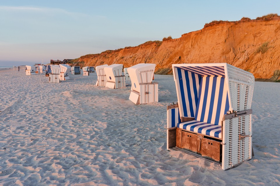 Beach chairs on the white sands of Sylt