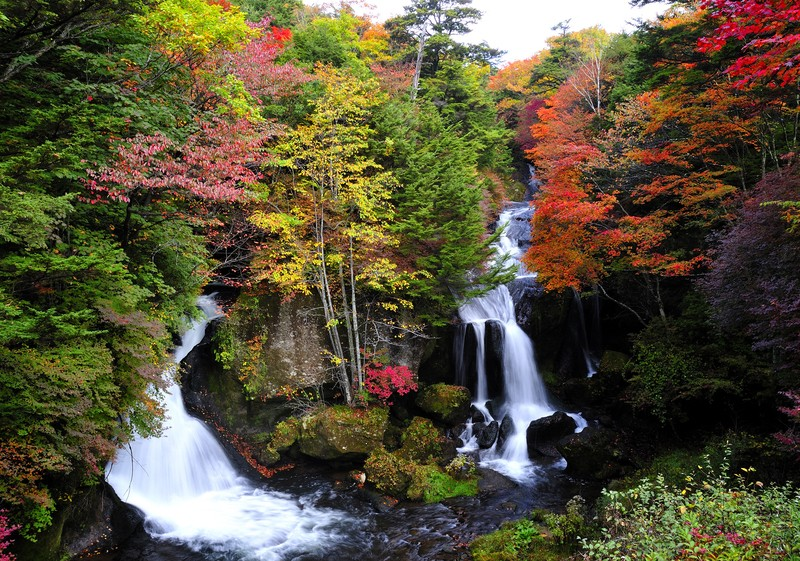 Ryuzu Falls Picture: Japanese waterfall in autumn blog.