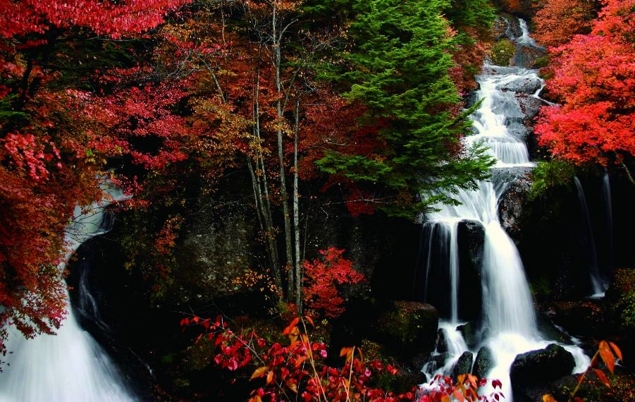 kegon_falls_autumn_foliage_nikko1 Picture: Japanese waterfall in autumn blog.