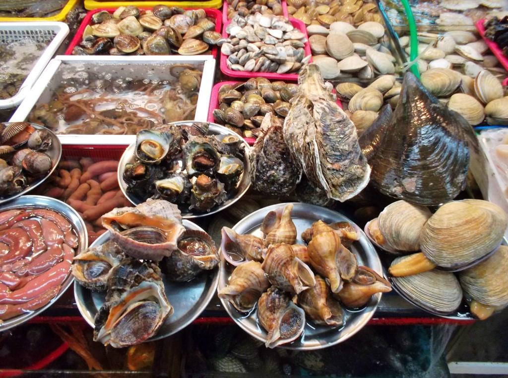 seafood at Jagalchi Fish Market