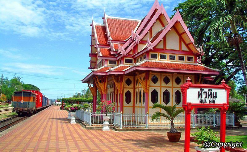 Being lovely, colorful but still restoring ancient factors is one of the striking things of Hua Hin Railway station.